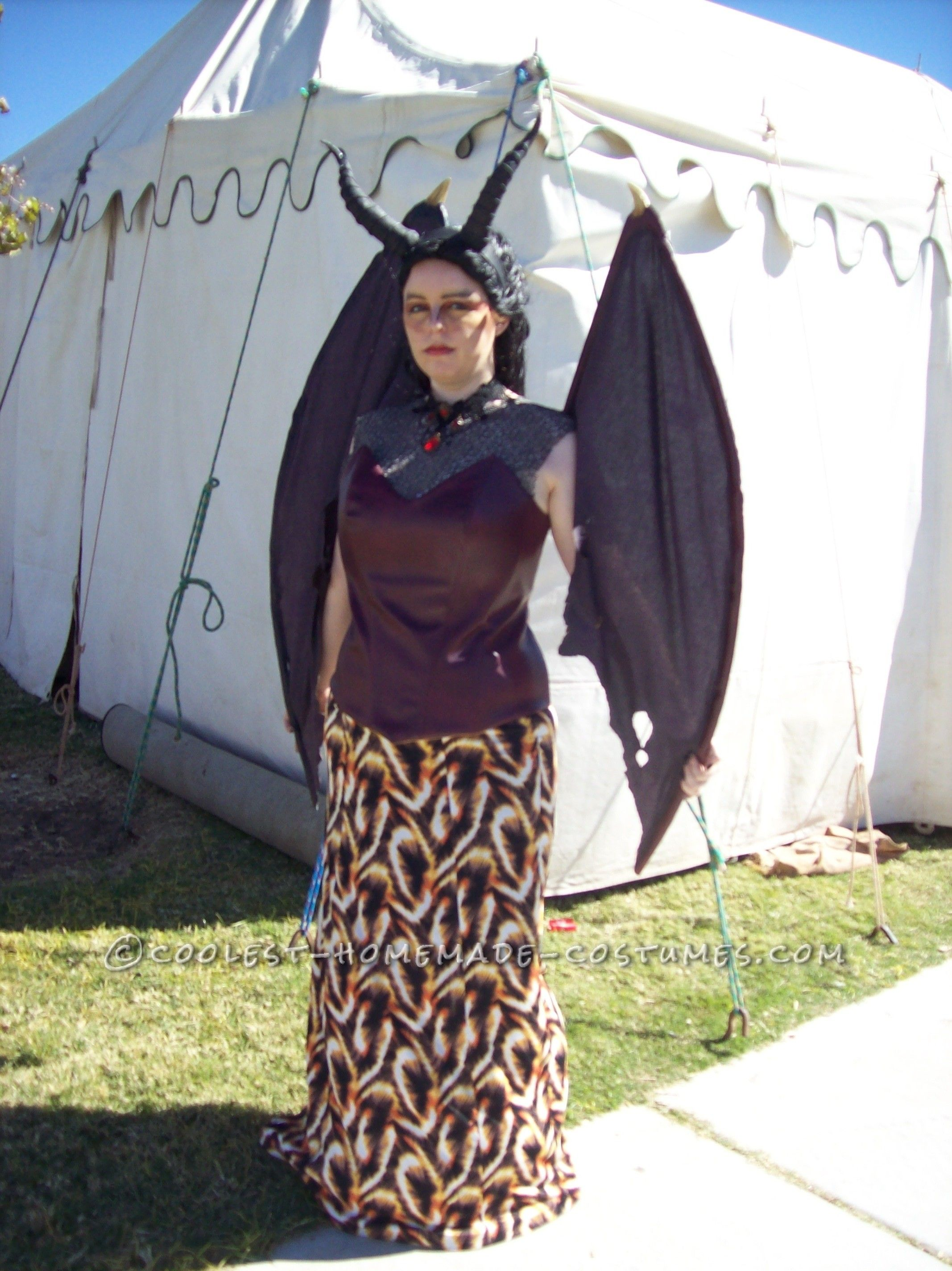Beautiful Handmade Queen Smaug the Magnificent Costume… Coolest Halloween Costume Contest