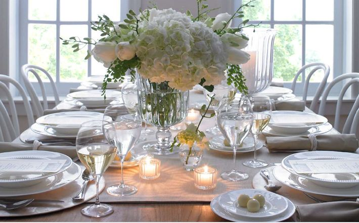 Beautiful table setting.
