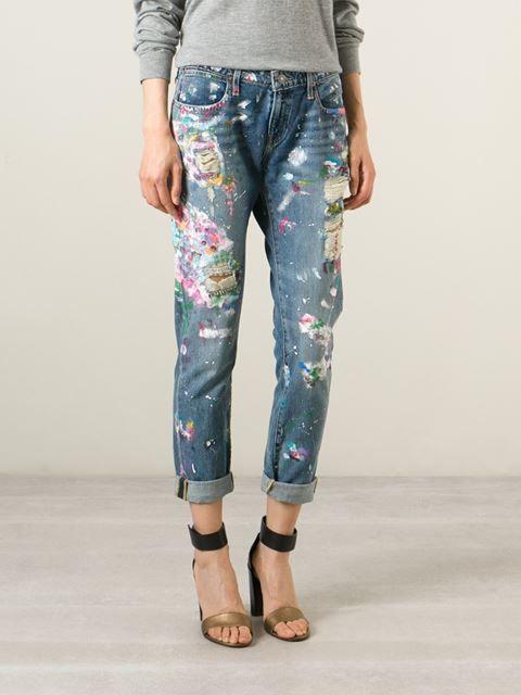 Polo Ralph Lauren distressed paint splatter jeans  3f5a729b88