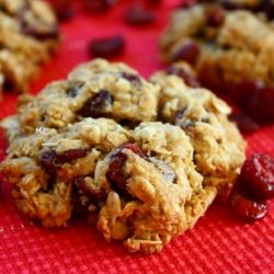 The great healthy holiday cookie quest. The first contestant; Cranberry Orange Oatmeal cookies.