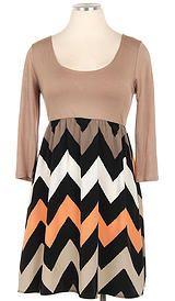 plus size chevron dress, great Fall colors