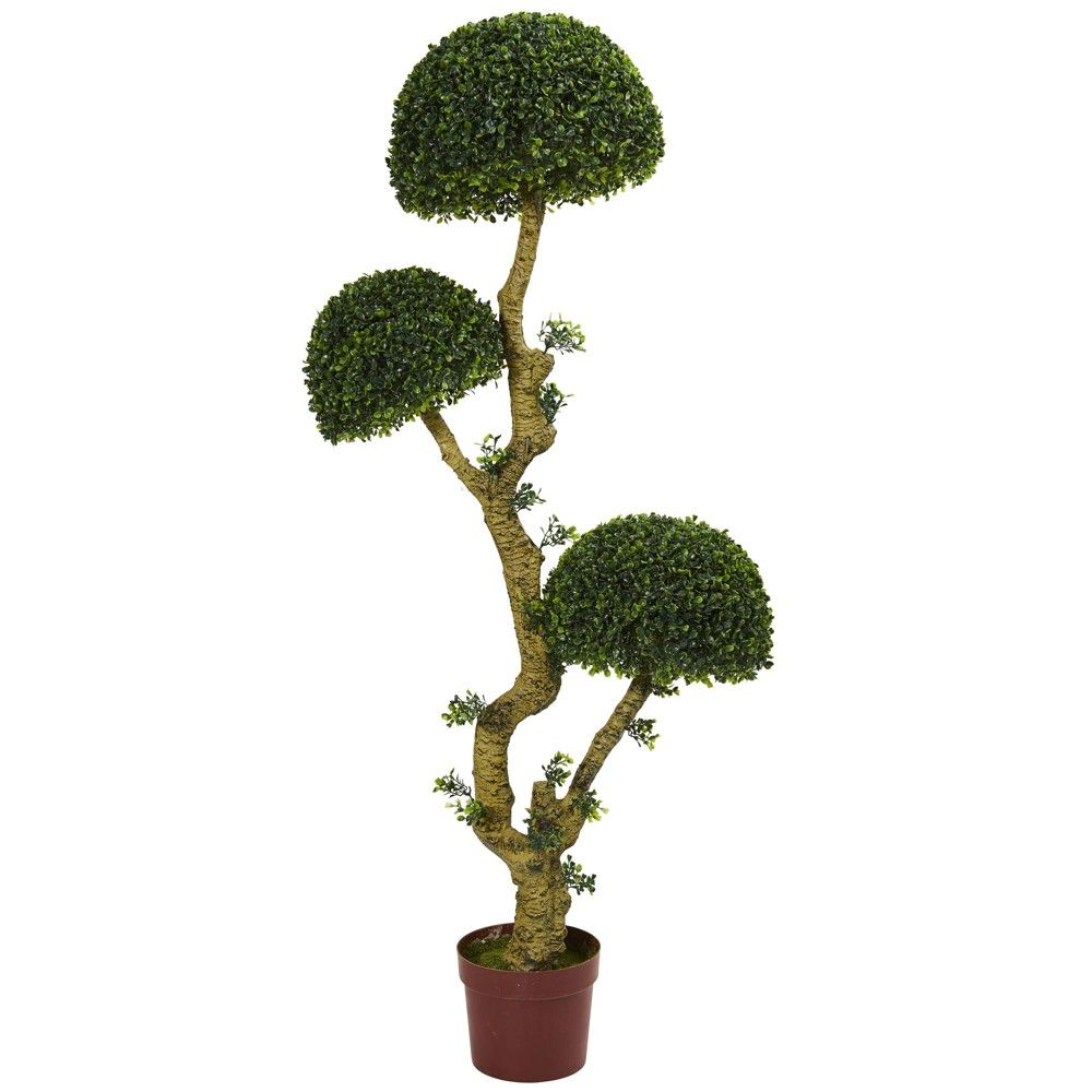 Ft triple boxwood artificial tree nearly natural green
