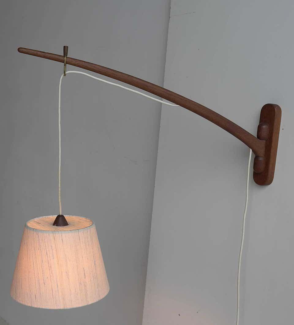 J T Kalmar Dornstab Teak Swing Arm Wall Lamp Austria 1950s In 2020 Swing Arm Wall Lamps Wall Lamp Wall Lamp Design
