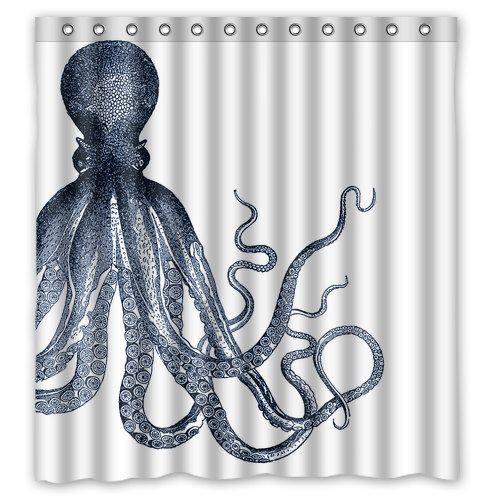 Octopus Tentacles Shower Curtain Octopus Ocean Octopus Shower