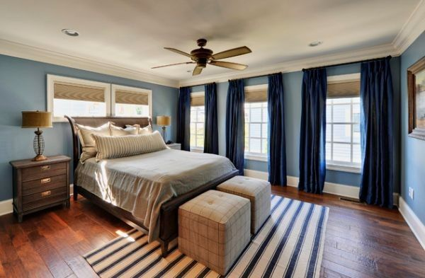 Use blue as an accent color to make your existing neutral interiors