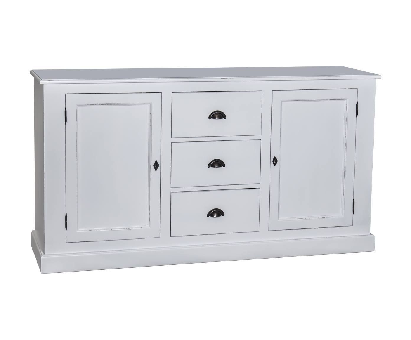 Mueble buffet de madera blanco westwing home living for Mueble buffet