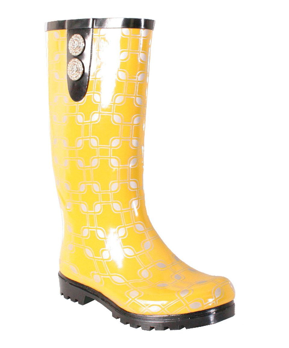 Love this Yellow Puddles II Rain Boot by Nomad Footwear on #zulily! #zulilyfinds