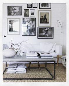 beautiful balck and white theme living room