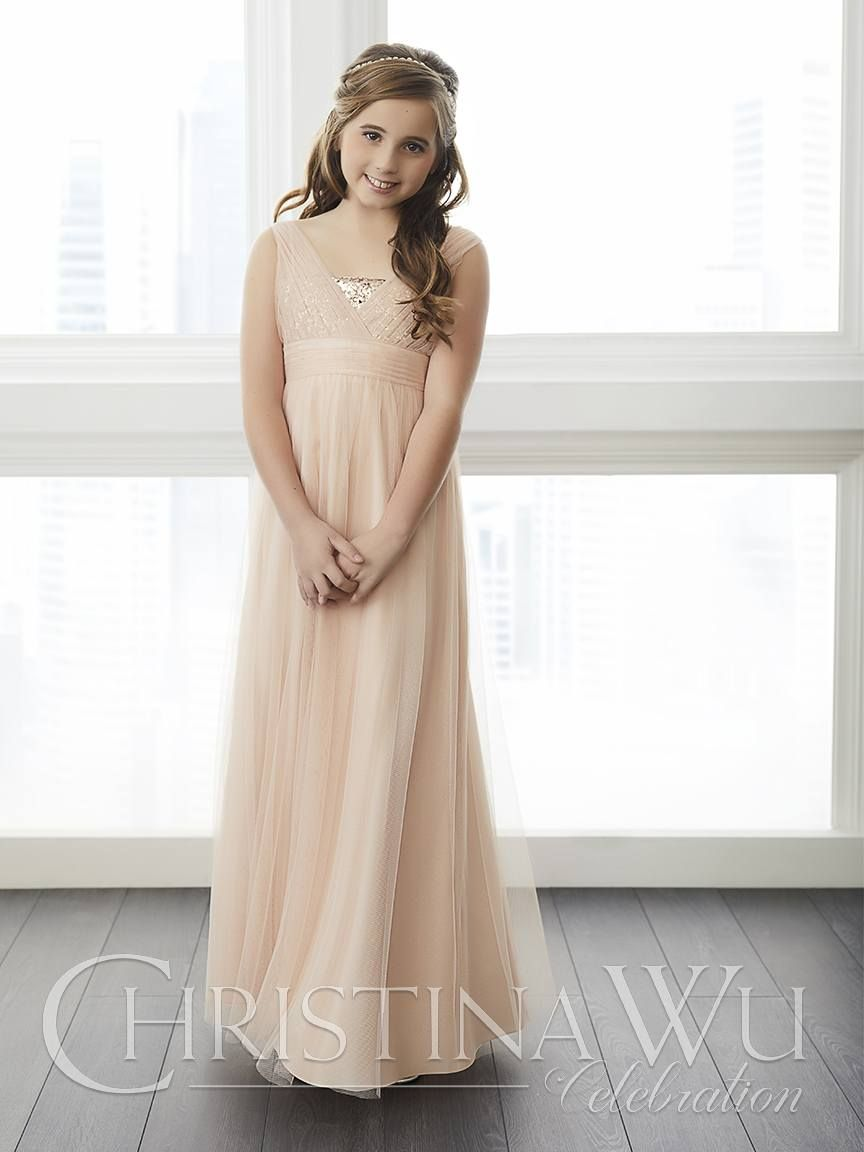 Pink And Gold Junior Bridesmaid Dress