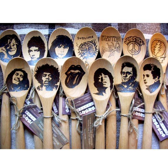 Wedding Gift For Friend Who Has Everything: Grateful Dead Wooden Spoon Steal Your Face Jerry Garcia