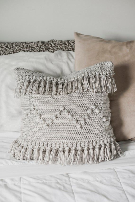 PDF Crochet Pattern for the Funky Fringe Pillow - Megmade with Love