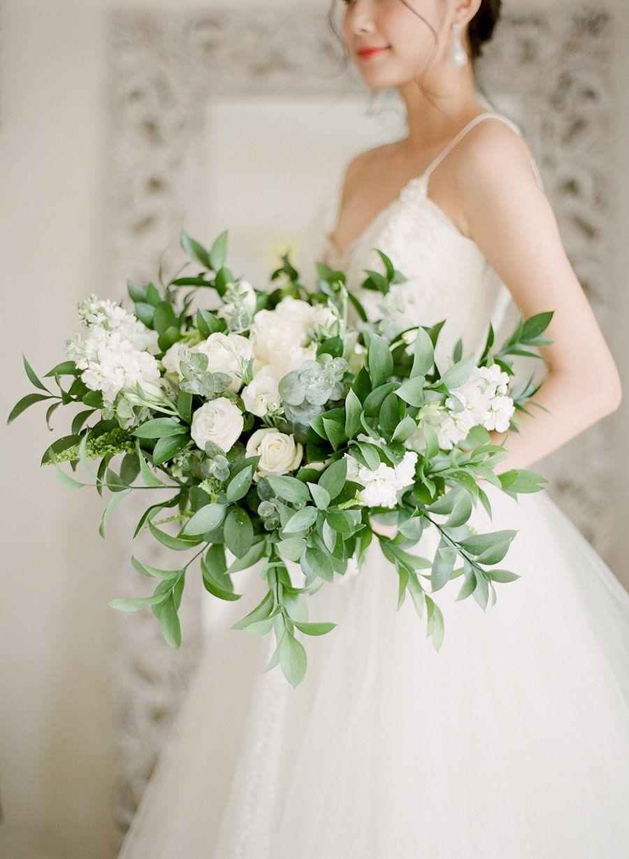 tropical green + white wedding wonderland | wedding, white