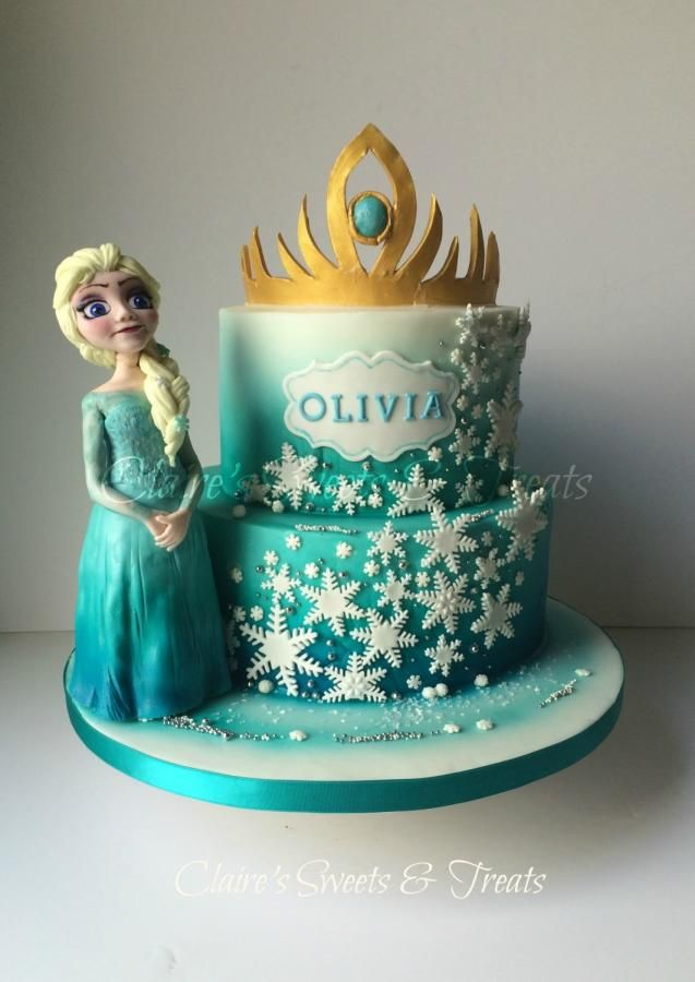 A frozen Birthday Cake by clairessweets Birthday Cake Ideas