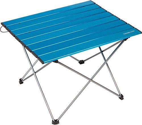 Trekology Portable Camping Table With Aluminum Table Top, Hard Topped  Folding Table In A