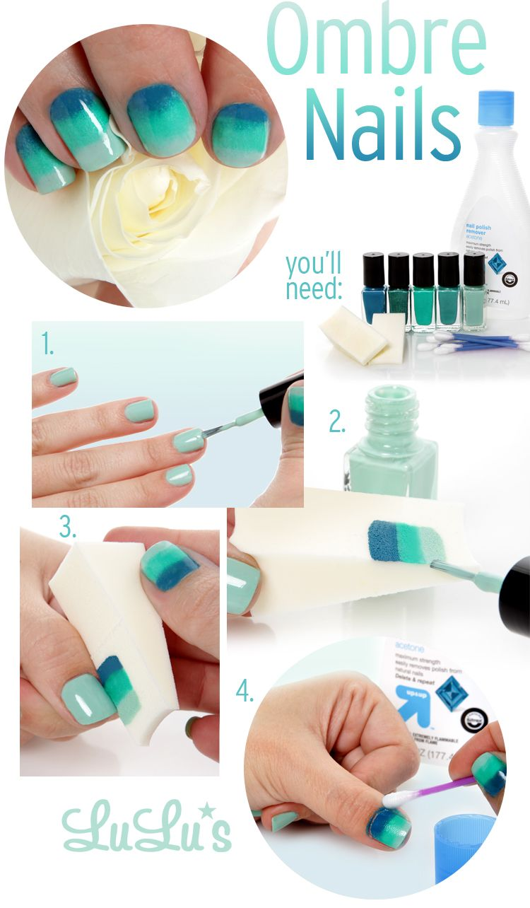 Lulus How-To: Spring Ombre Manicure | Makeup sponges, Light colors ...