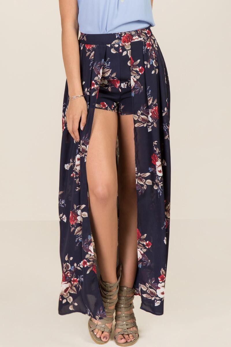 3a7a892e2a81d Alicia Walk Through Floral Maxi Skirt   Bottoms   Maxi skirt outfit ...