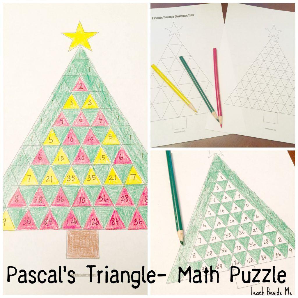 Pascal S Triangle Christmas Tree Math Winter Math Christmas Math Triangle Math