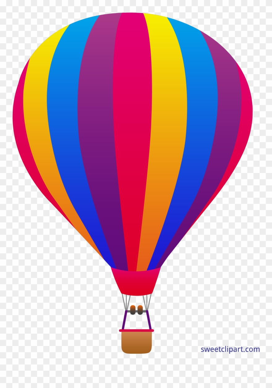 Download Hd Striped Sweet Hot Air Balloon Vector Png Clipart And Use The Free Clipart For Your Creative Project Hot Air Balloon Clipart Air Balloon Balloons