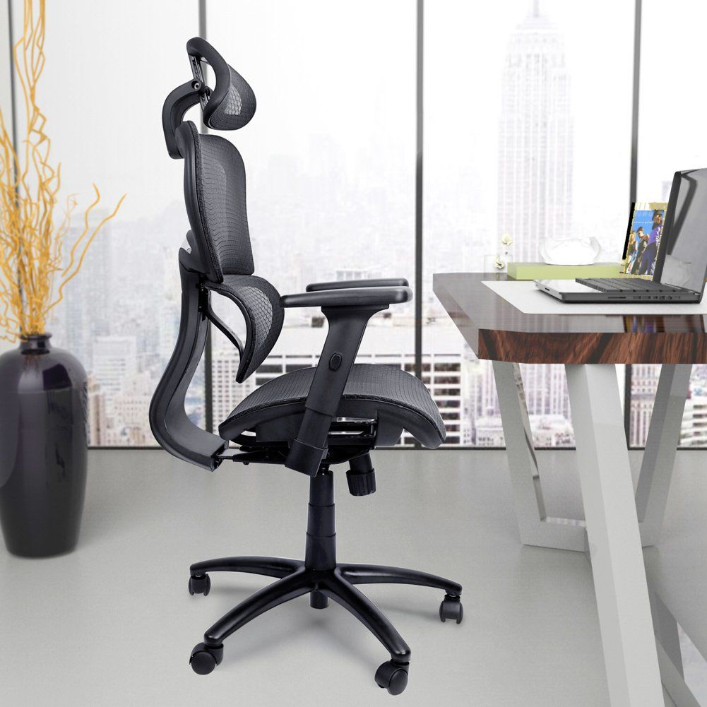Mysuntown Ergonomic Mesh Office Chair With Back Support Adjustable