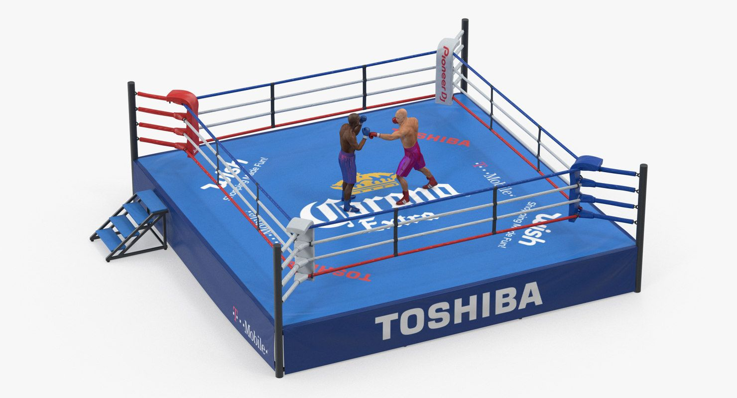 Boxers Fighting Boxing Ring 3d Model Boxing Rings Boxer 3d Model