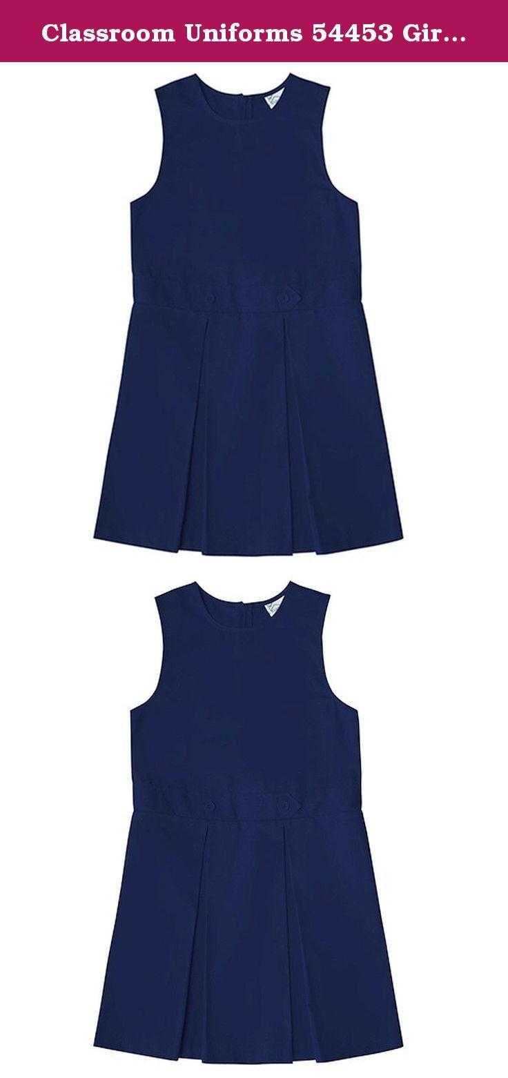 CLASSROOM Girls Uniform Kick Pleat Printed Jumper