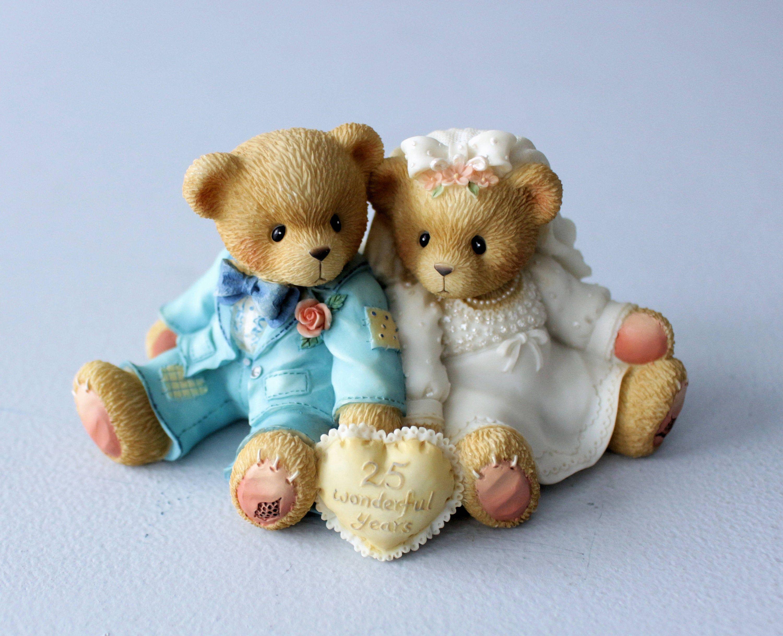 Cherished teddies 25th wedding anniversary wedding cake