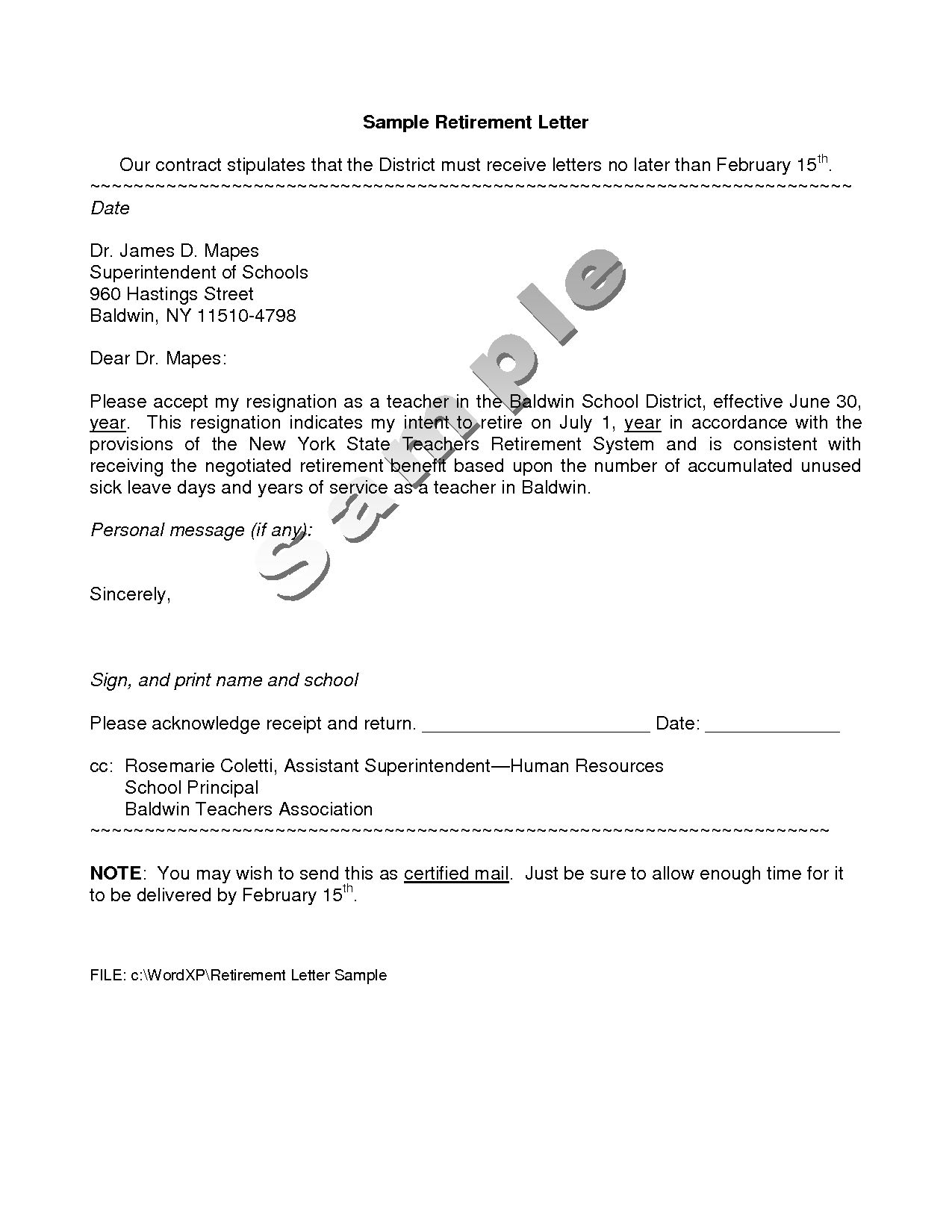 Retirement Letter To Employer Retirement Letter Template To Employer Cover Letter Exle  Bu Tarz .