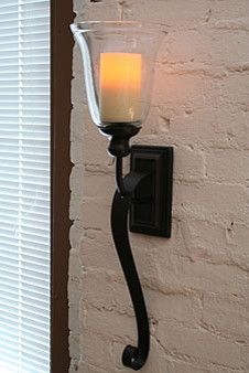 Rubbed Oil Bronze Battery Operated Iron Scroll Sconce   Modern   Wall  Sconces   Battery Operated