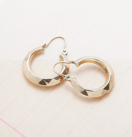 Belle Époque Faceted Hoop Earrings, $450.00