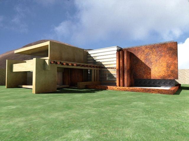 renders Luis porfirio Navarro Mariscal----casa mexicana - fachadas contemporaneas