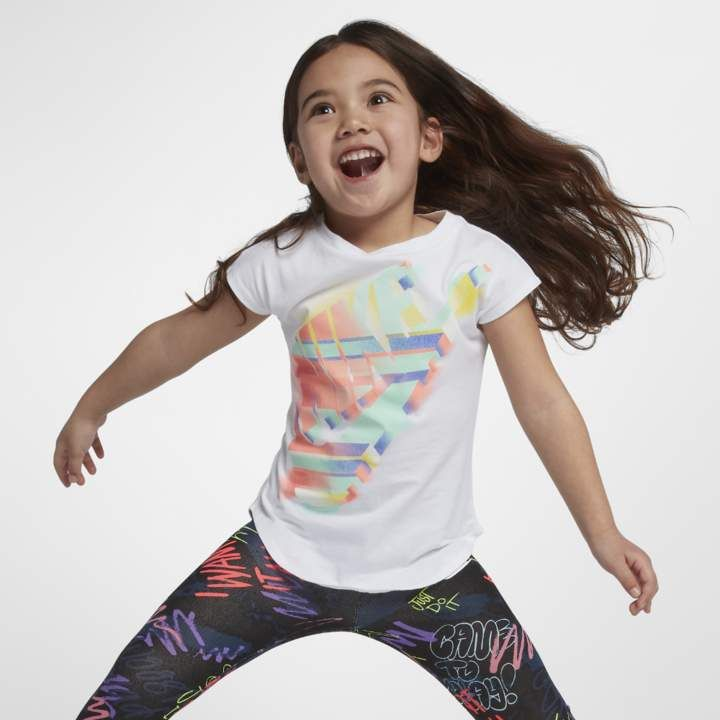 78648177 Painted Desert Futura Little Kids' (Girls') T-Shirt Size 4 (White)  #cotton#lasting#Shirt
