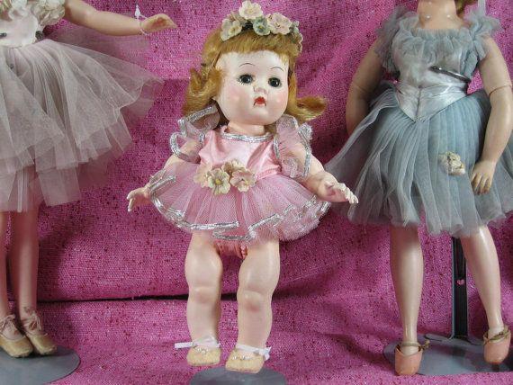 Vintage Ballerina Doll Hard Plastic