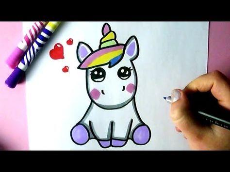 Come Disegnare Un Unicorno Carino Youtube кαωαι Nel 2019