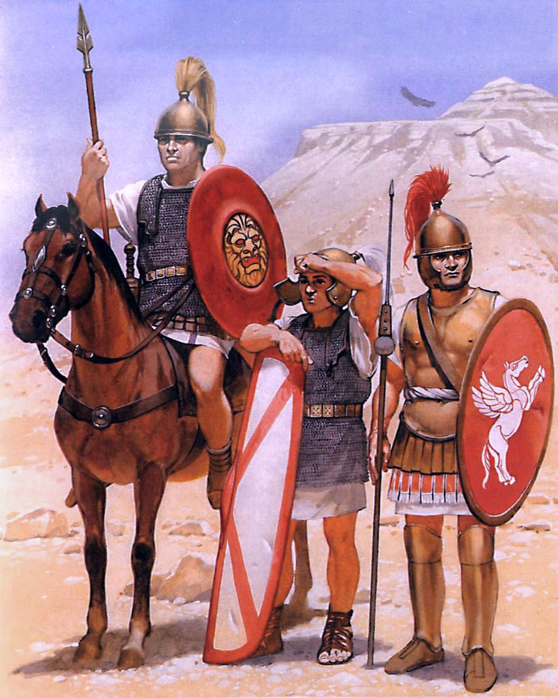 """The Roman army during the Jugurthine War, 110-105 BC""- art by Angus McBride"