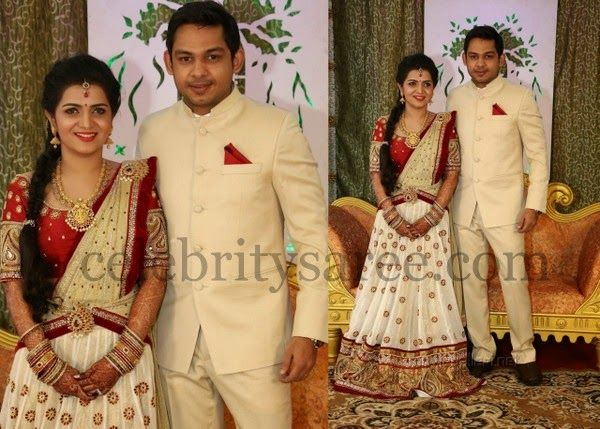 Divya Darshini Reception Saree Blouse Patterns