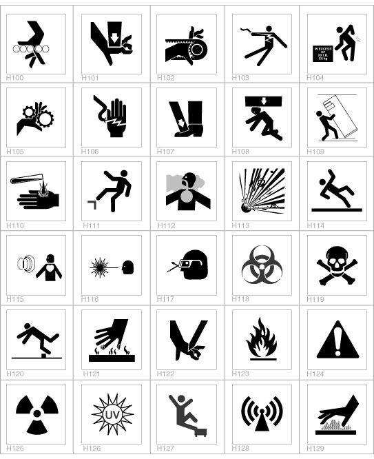 symbols com safety label