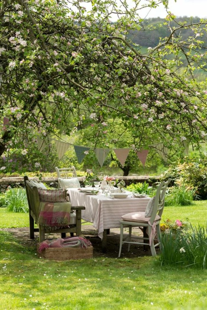 tischdeko gartenparty girlanden garten Pinterest Gartenparty - Deko Gartenparty Grun