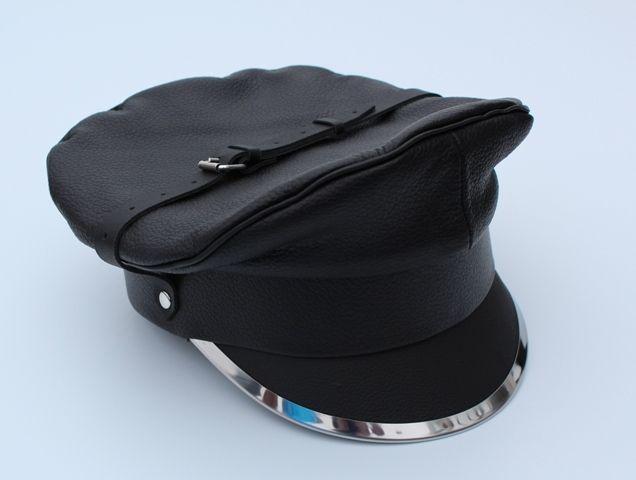 e06ef61ed2c Finest Soft Leather Biker Hat Muir Cap Peaked Cap Leda Military Gay Fashion   Ledapol  CadetMilitary