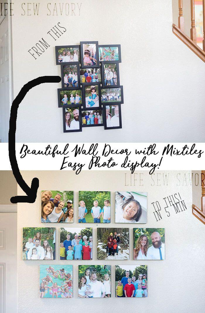 Easy photo wall decor in 2020 Photo wall decor, Photo
