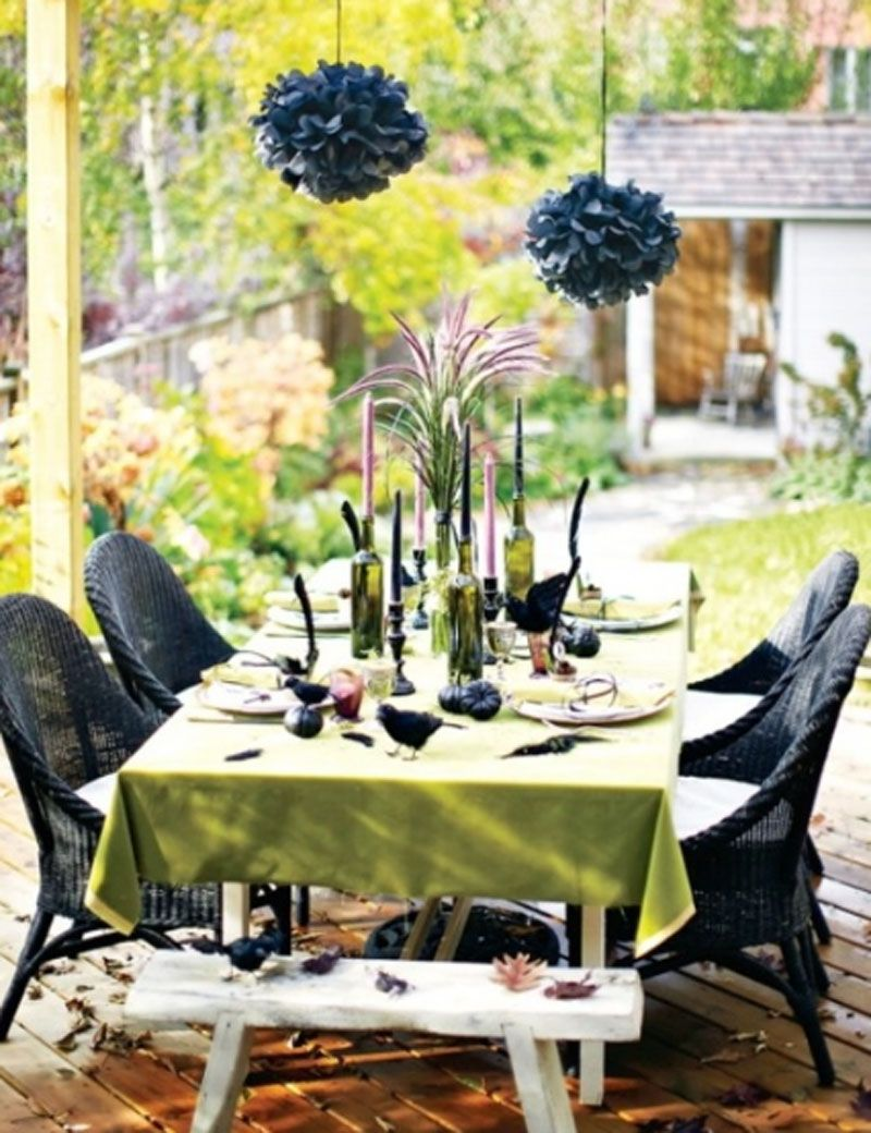Black Halloween Table Decor by Base Decor Halloween Table Settings - Halloween Table Decorations Pinterest