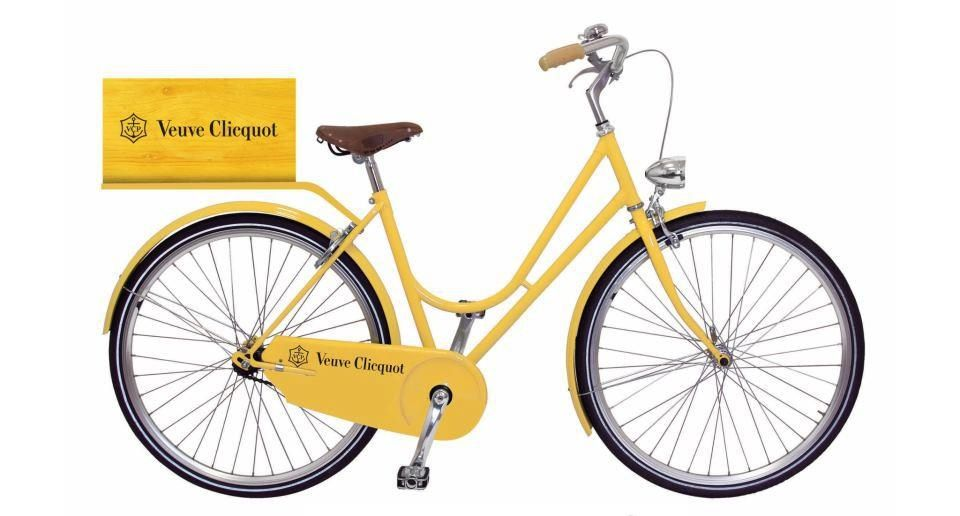 I love this Veuve Clicquot bike. I\'m searching the Interwebs to try ...
