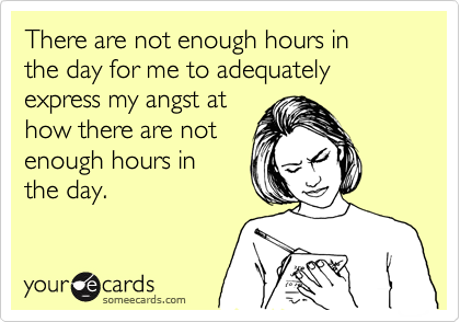 There Are Not Enough Hours In The Day For Me To Adequately Express