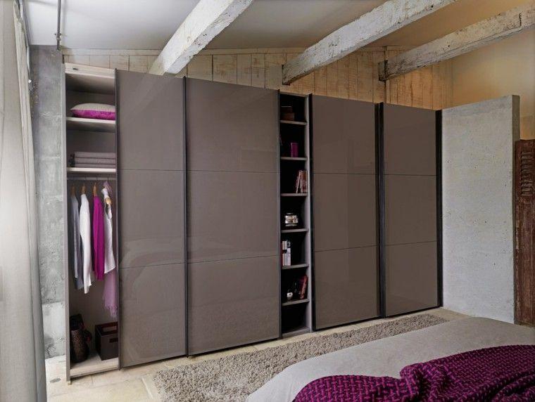 armario de dise o moderno con puertas correderas detalle