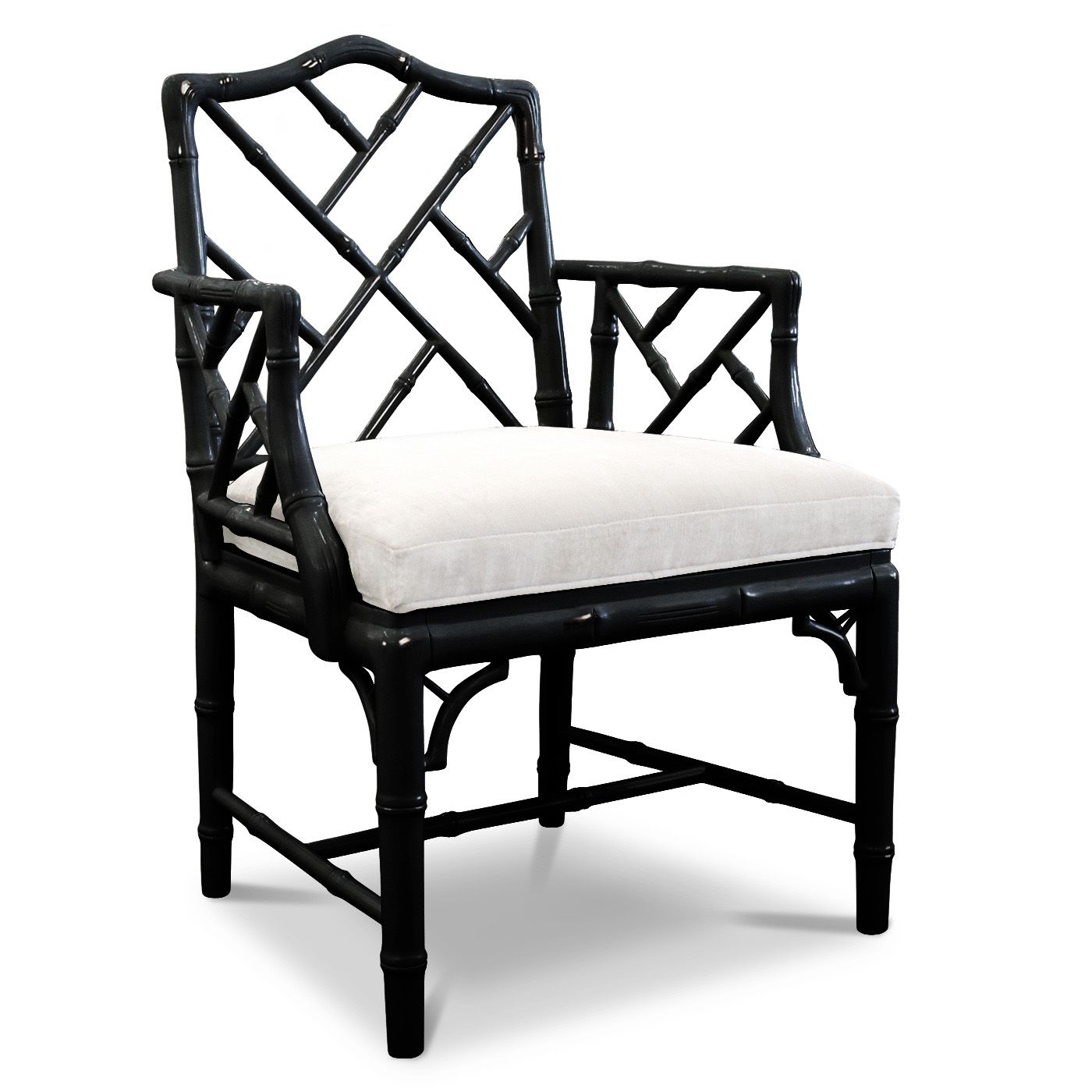 Jonathan Adler Hollywood Regency Chinoise Faux Bamboo Chippendale