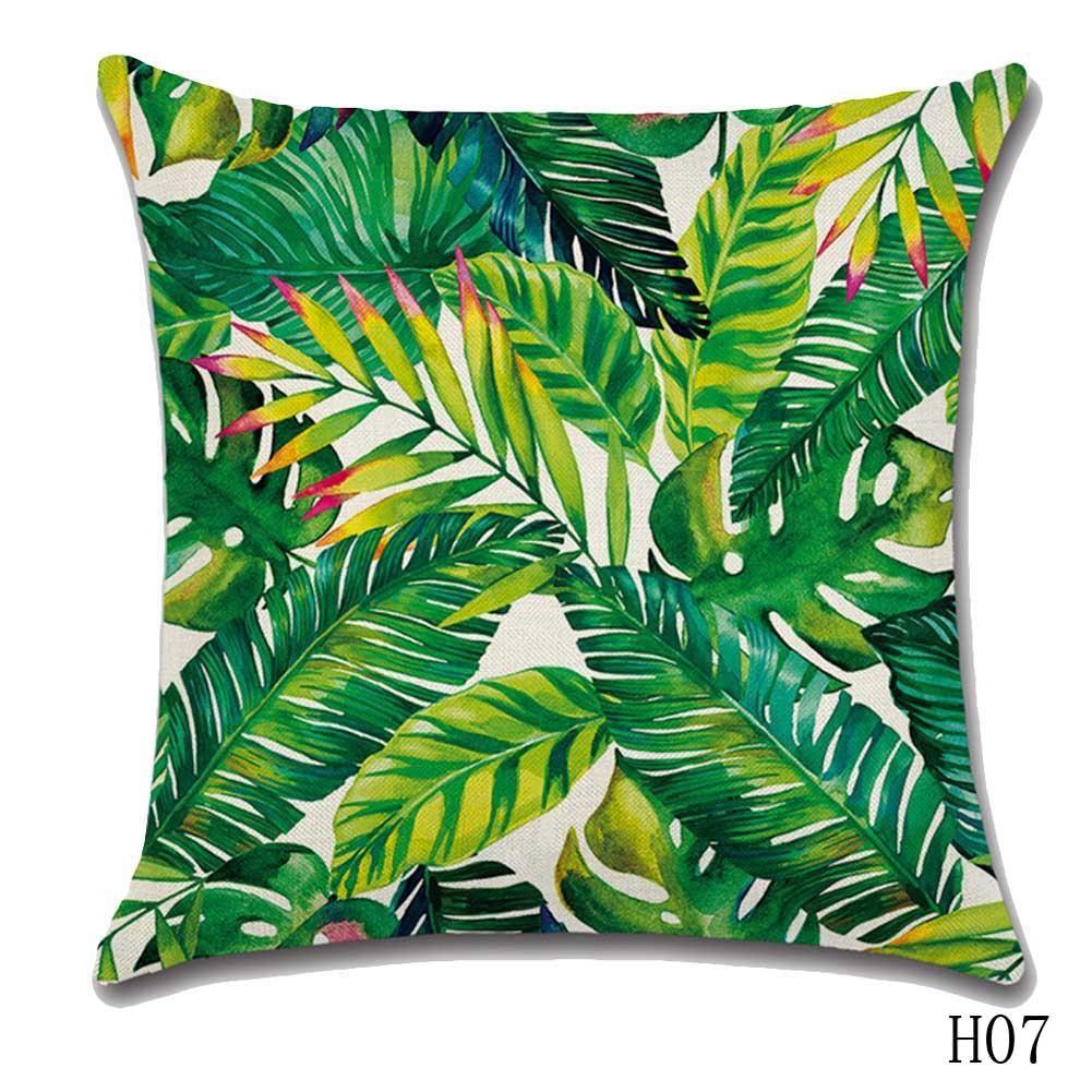 Tropical plant printed cushion cover h i p s t e r pinterest