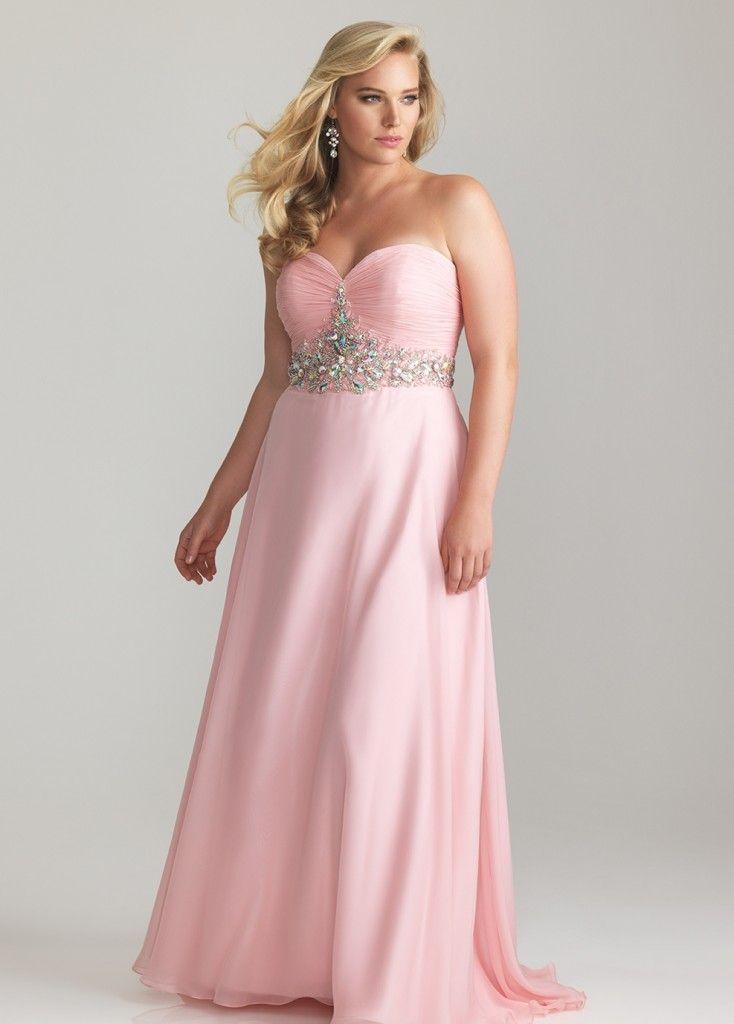 Light Pink Plus Size Dresses