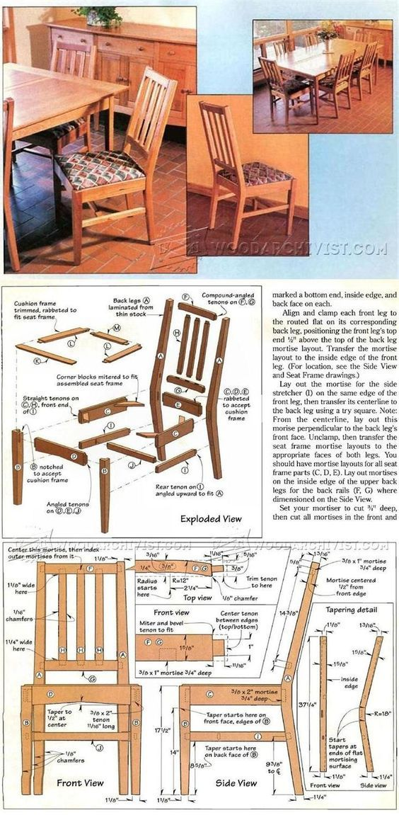 Contemporary Dining Chair Plans Furniture Plans And Projects