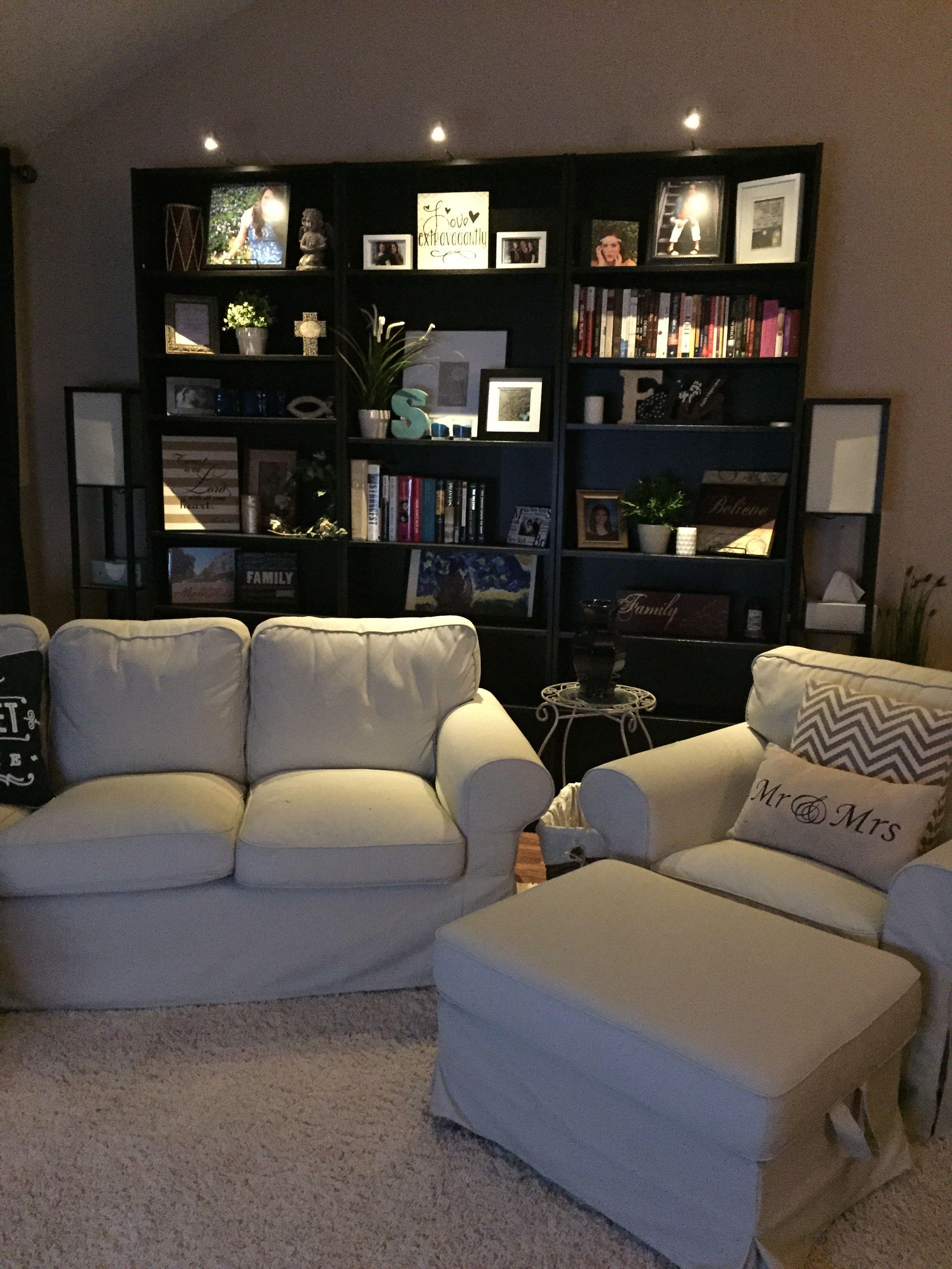 My cute little IKEA living room Ektorp sofa w/ chair and 2 ...