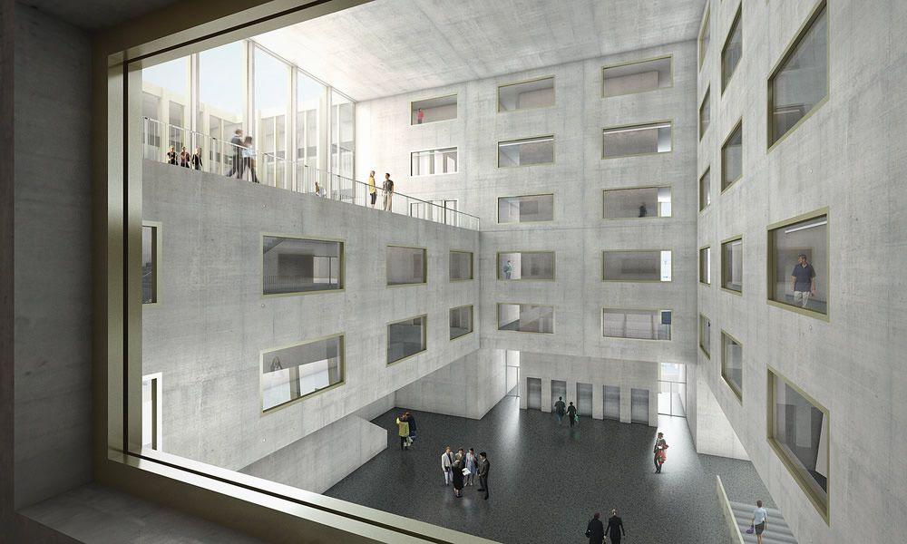 Fachhochschule sihlhof z rich architecture architektur for Fachhochschule architektur