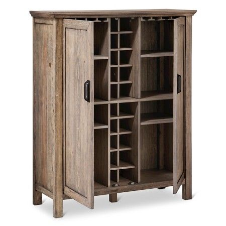 rustic bar cabinet with storage threshold gilford rustic bar cabinet